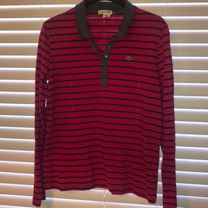 Women's Long Sleeve Lacoste Polo